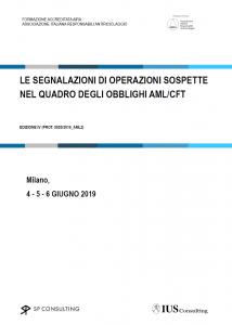 LE SEGNALAZIONI DI OPERAZIONI SOSPETTE NEL QUADRO DEGLI OBBLIGHI AML/CFT